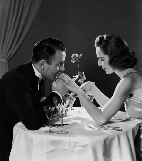 Dinner a deux is a classic date option and great for good conversation and some old fashioned romance