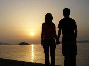 Enjoy the sunset together as a survivors of the end of the world!